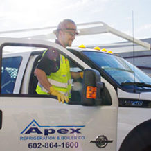 photo of an Apex service truck